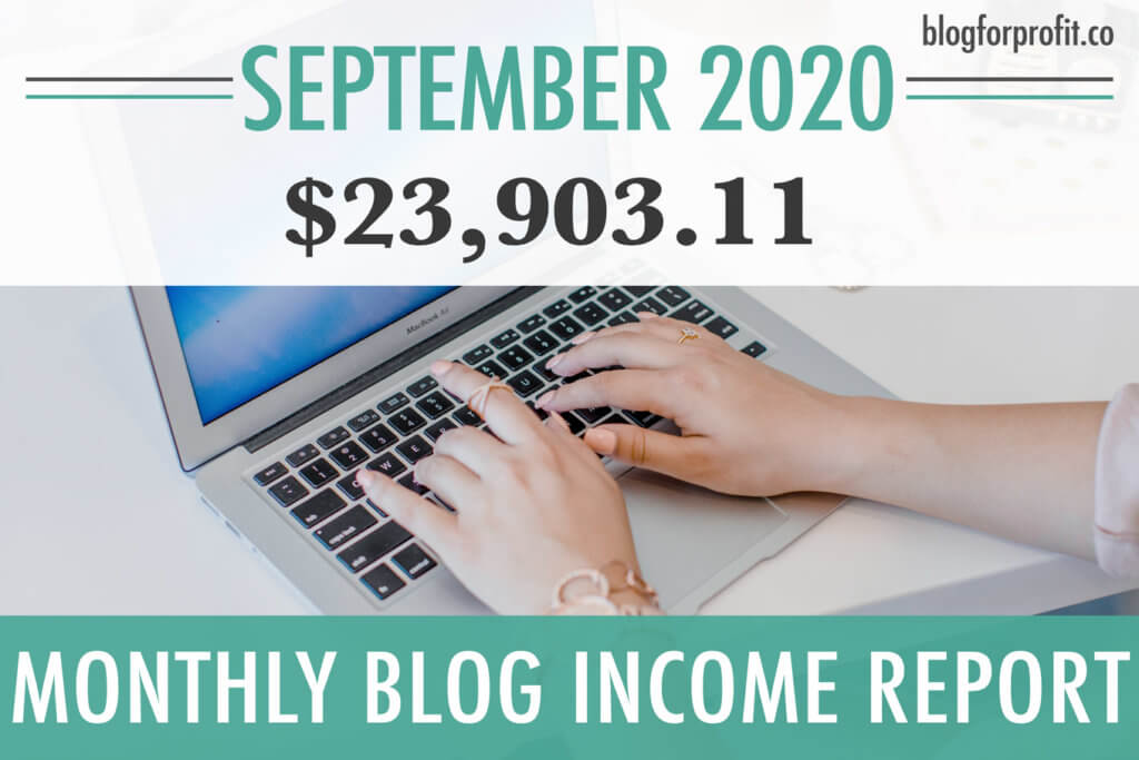 Blog income report September 2020