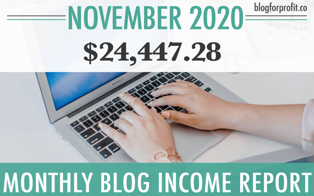 November food blog income report
